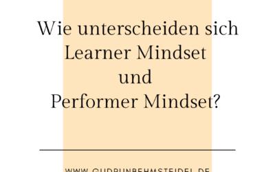 Mindset – sind Sie Learner oder Performer?